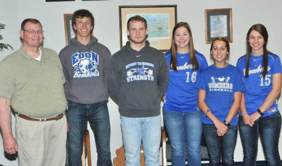 Selected to attend the 78th Annual Buckeye Boys State and 70th Annual Buckeye Girls State conferences are Braden Miller, Jared Best, Hannah Kaylor, Paige Schaffter and Eliza Zulch.  Sponsors for this year's program include Edon American Legion Post 662 and Edon Lions Club represented by Paul Ledyard.