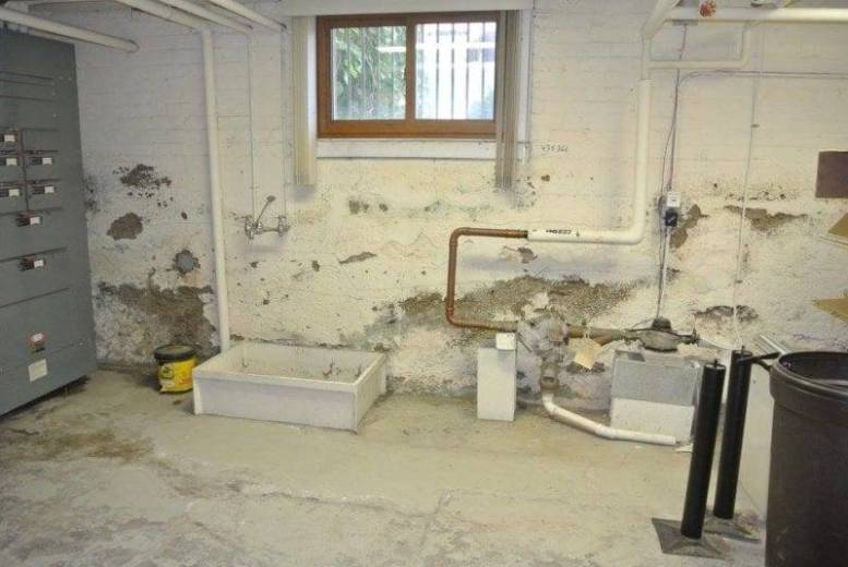 The walls of the Wauseon Library basement are crumbling and in need of serious repair to make the building safe to use again.