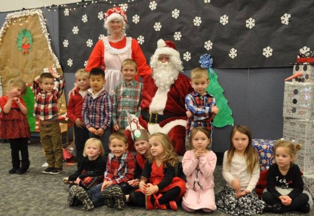 four county career center preschoolchildcare center students presented their annual christmas program for parents and grandparents