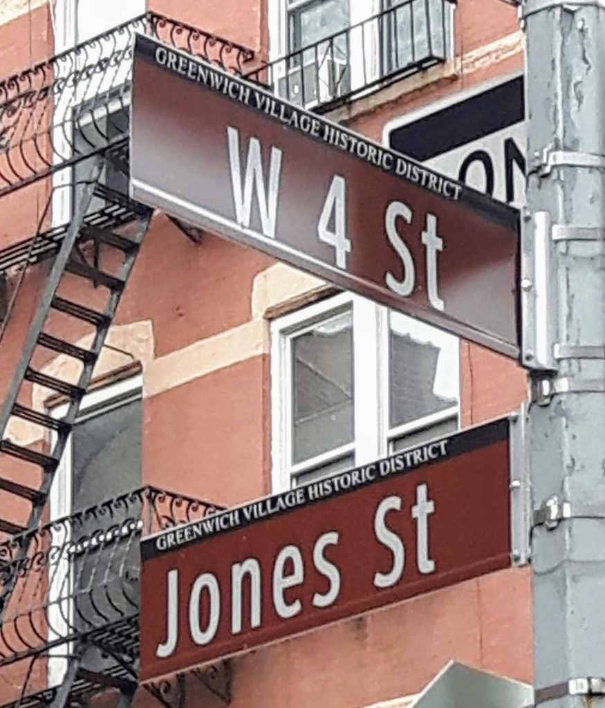 West 4 St/Jones St are streets writ large in the history of Bob Dylan's Greenwich Village. In fact, West 4th - on which Edward Hopper and Jackson Pollock first exhibited - is often referred to as New York's Left Bank: Edward Albee wrote his first produced play in the kitchen of his walk-up at 238, and it was on this street that Willa Catha met her partner Edith Lewis, Allen Ginsberg his lover Gregory Corso. And it was 'in a little room' on West 4th Street that John Reid wrote Ten Days That Shook the World. Jack Kerouac and Bruce Springsteen hung out at the Riviera Cafe, and Eugene O'Neill found solace at the Golden Swan, nicknamed the Hell Hole, which provided the inspiration for Harry Hope's Saloon in The Iceman Cometh. Dylan, of course, lived at 161, paying $60 a month for rooms above what was then Bruno's Spaghetti Parlor. Just round the corner on Jones, he and his then girlfriend Suze Rotolo were photographed by Don Hunstein on a snowy day in February 1963. The result was one of rock's most iconic album covers: The Freewheelin' Bob Dylan.