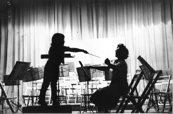 Donna conducting her mother, Ann