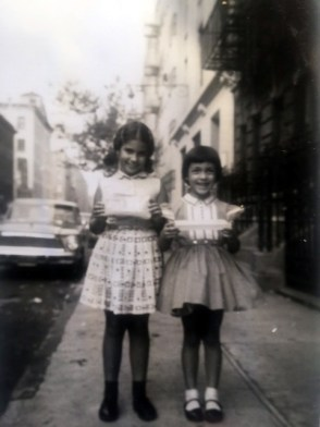 Donna (right) and her friend Irene on Bank Street