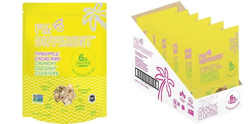 I'm Different: Pineapple Cacao Nibs Crunchy Coconut Clusters