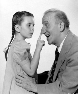 Margaret O'Brien and Jimmy Durante in MUSIC FOR MILLIONS