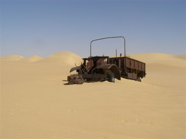 They were fitted with a bigger radiator, a condenser system, built up leaf springs for the harsh terrain, wide, low pressure desert tyres, sand mats and channels,[nb 3] plus map containers and a sun compass devised by Bagnold. source