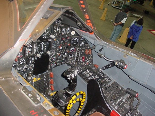 The flight instrumentation of an SR-71's cockpit Source