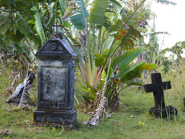 Today, 30 headstones remain, though locals say there were once hundreds. Source