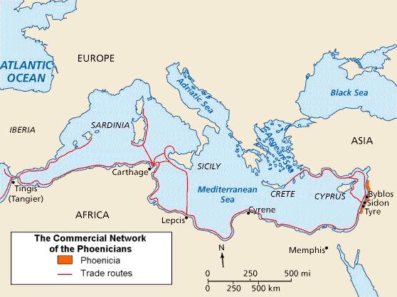 Location of Phoenicia