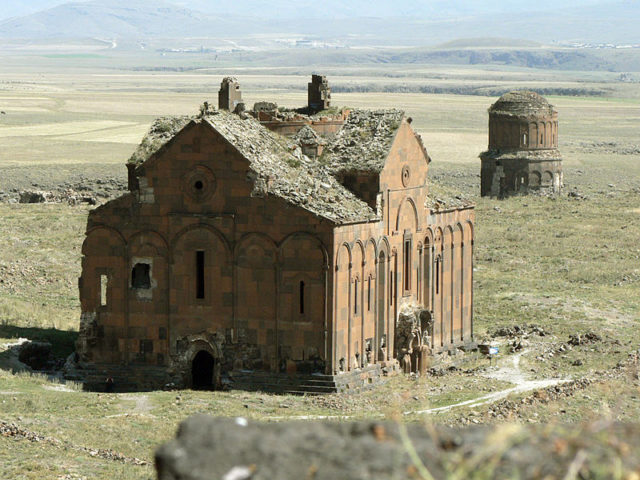 Ruins of the Cathedral of Ani and the church of Redeemer. Source