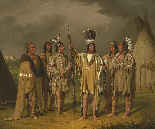 Six Blackfeet chiefs painted by Paul Kane along the South Saskatchewan River in Canada ( c.1851-1856). Wikipedia/Public Domain