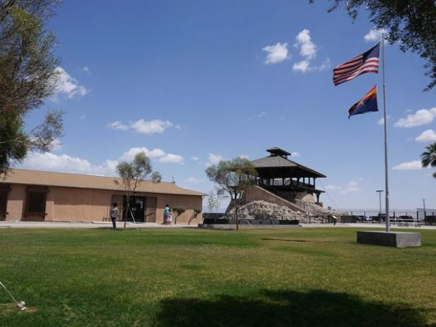 The Yuma Territory Prison. Perched on top of a rocky hill, overlooking the small town. CC BY-SA 2.0