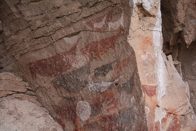 Made by the first dwellers of the area, a pre Tehuelche civilization. Photo Credit