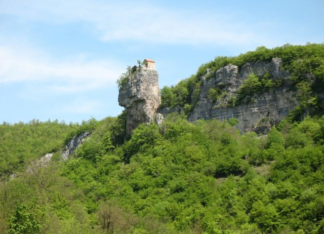The Katskhi pillar in 2009.Photo Credit