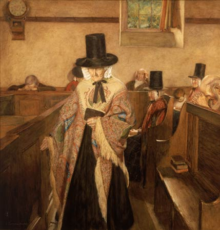 Vosper's 1908 watercolor 'Salem' is one of the most recognized images of traditional Welsh costume.