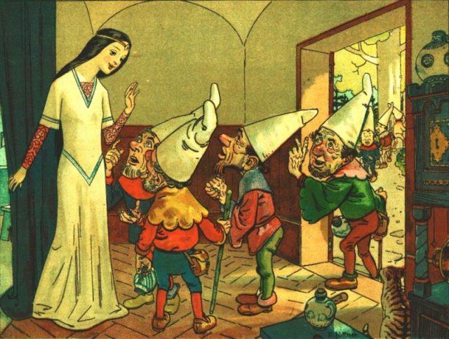The dwarfs warn Snow White