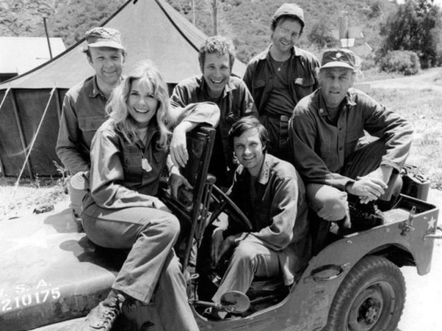 The cast of M * A * S * H, 1974