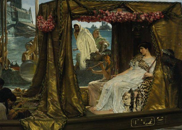 The Meeting of Antony and Cleopatra (1885), by Lawrence Alma-Tadema
