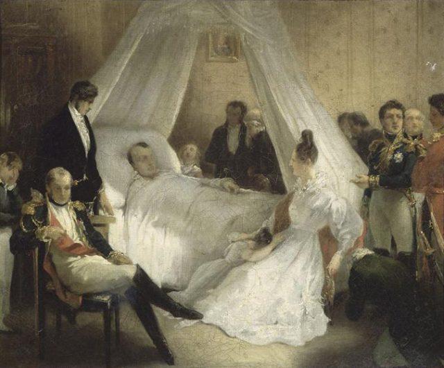 Mort de Napoléon Ier à Sainte-Hélène, le 5 mai 1821, by Charles de Steuben, c. 1828