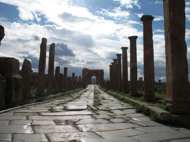 One of the roads into Timgad