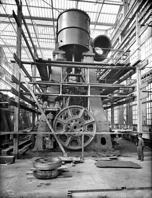 One of Titanic's Steam Engines, Harland & Wolff's Engine Works, Belfast, May 1911.