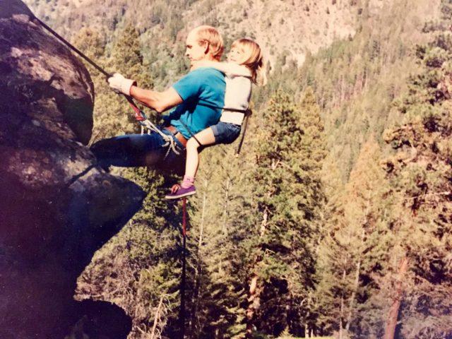 90 کی دہائی میں پہاڑ پر چڑھنا۔