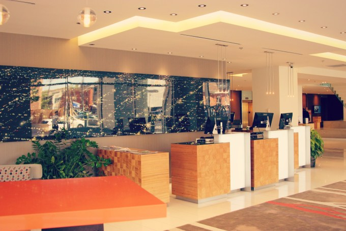 Colourful front lobby