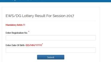 EWS-DG-ADMISSION-Result