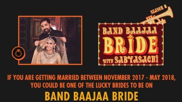 Band Baaja Bride with Sabyasachi