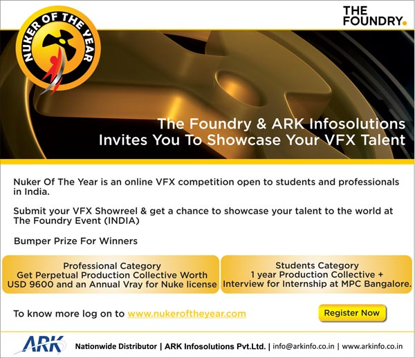India's 1st Nuker of the Year VFX Competition by The Foundry