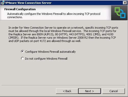 VMware Horizon View - Firwall Configuration
