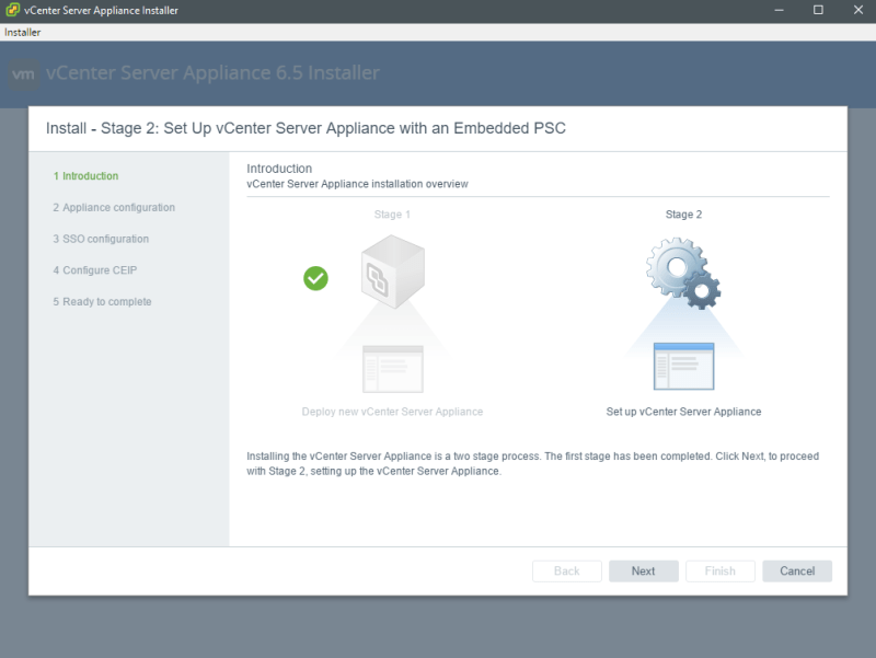VMware vCenter Server Appliance 6 5 - Install and Configure - The