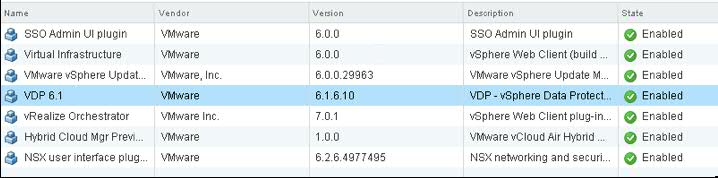 vSphere Data Protection not accessible after upgrade to 6 1 6 - The