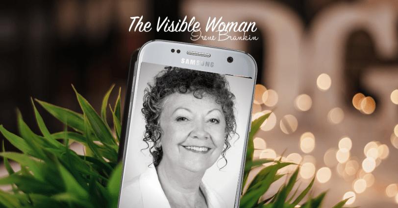 Irene brankin face on mobile phone
