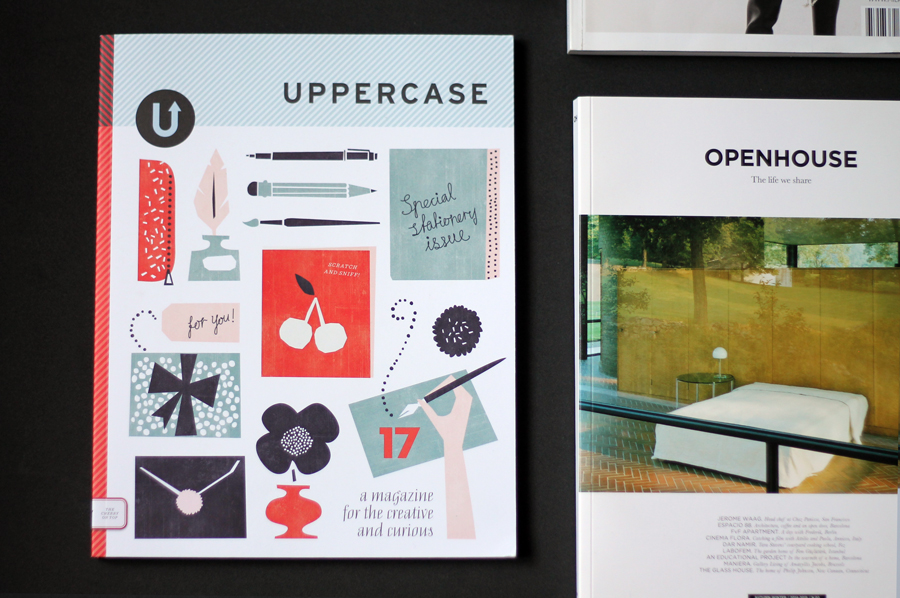 Uppercase stationary magazine