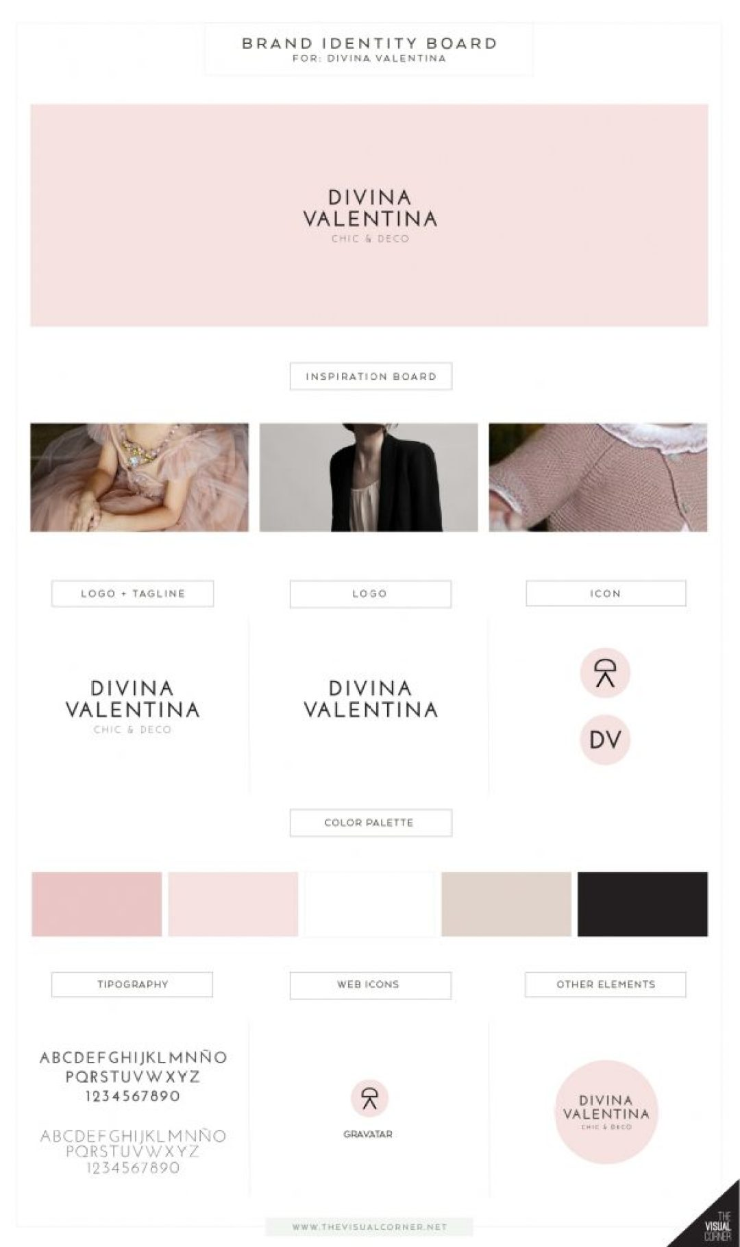 Brand identity for Divina Valentina boutique by The Visual Corner studio