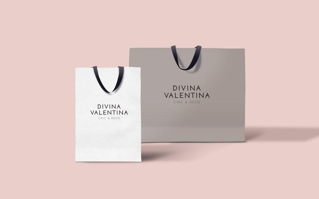 Diseño de Identidad para boutique Divina Valentina