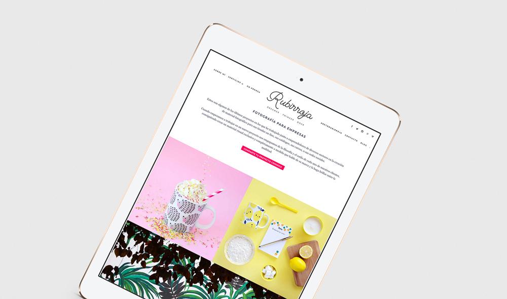 Diseño de marca y diseño web para Rubirroja por The Visual Corner