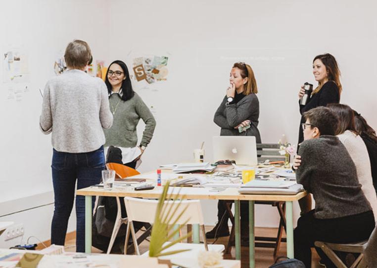 Mercy Guzman en el Workshop de Branding impartido en Cadaver Exquisit Barcelona