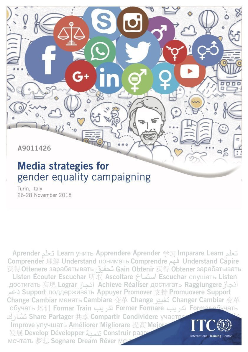 Media strategies for gender equality campaigning course at the ILO UN Turin 2018