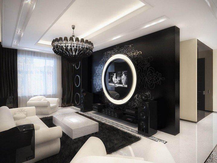 Deco Ruang Tamu Hitam Putih Desainrumahid Com