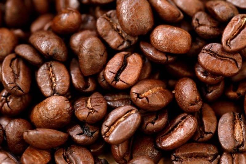 FILE PHOTO: Roasted coffee beans are seen on display at a Nestle Nespresso event in Paris