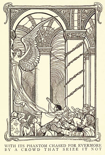 The Conqueror Worm by Edgar Allan illustration by W Heath Robinson 1900