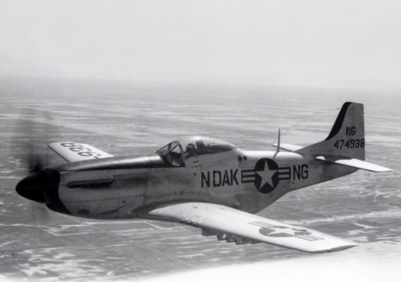 circa 1947 - US Air Force North American F-51D Mustang - North Dakota Air National Guard - World War II era fighter plane P-51