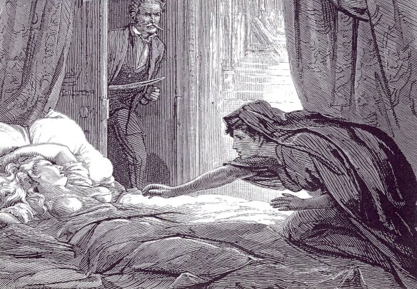 1872 illustration by David Henry Friston in lesbian vampire story Carmilla by Sheridan Le Fanu 0