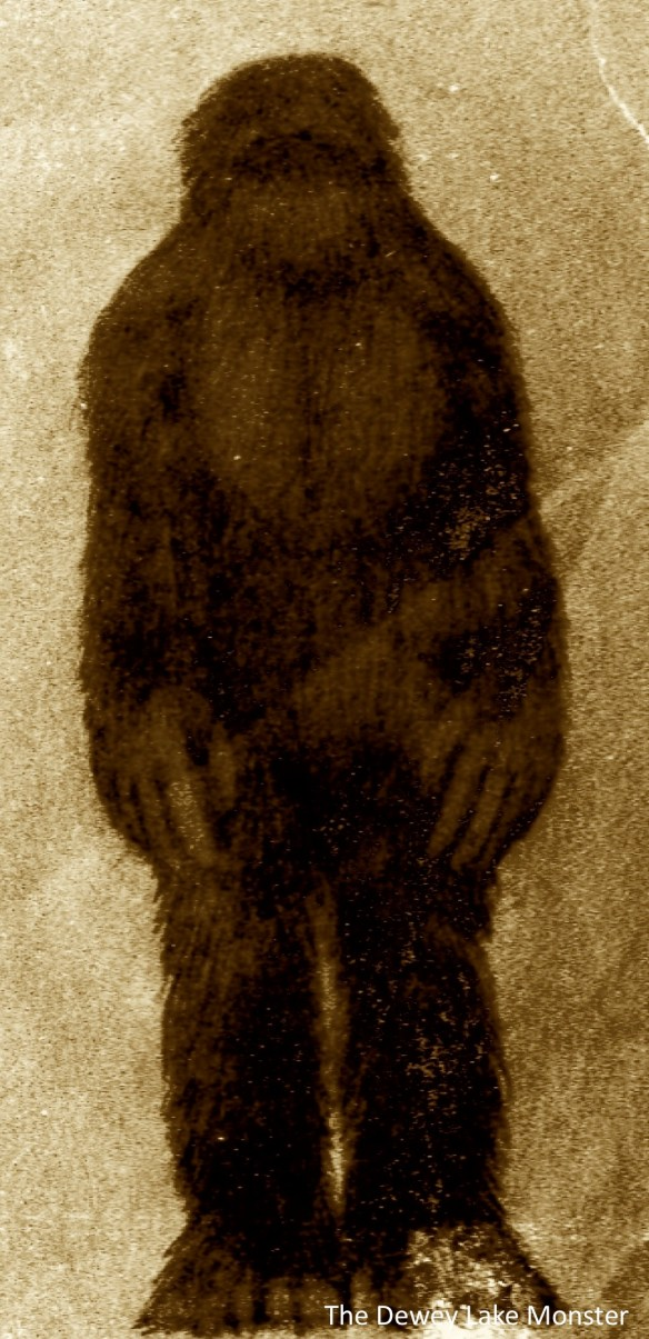 Dewey Lake Monster Michigan Bigfoot Sister Lakes Sasquatch Garcon Train Sighting picture by The Terror Tales via Wikipedia
