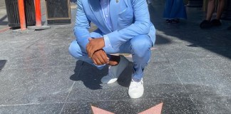 Anthony Anderson in front of his placement on the Walk of Fame. (Photo: BPRW)