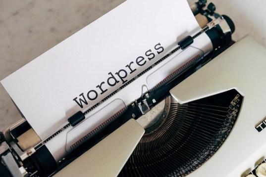 WordPress written in a typewriter.
