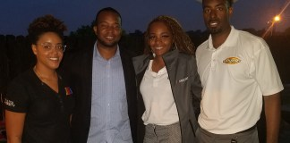 (l-r) Caryn Grant, Mike Patton, Destini Orr and Brandon Thompson