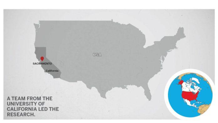 Map of Sacramento California USA