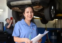 Hilda Mera is co-owner of S&A Auto Repair in Newark, New Jersey. (S&A Auto Repair)